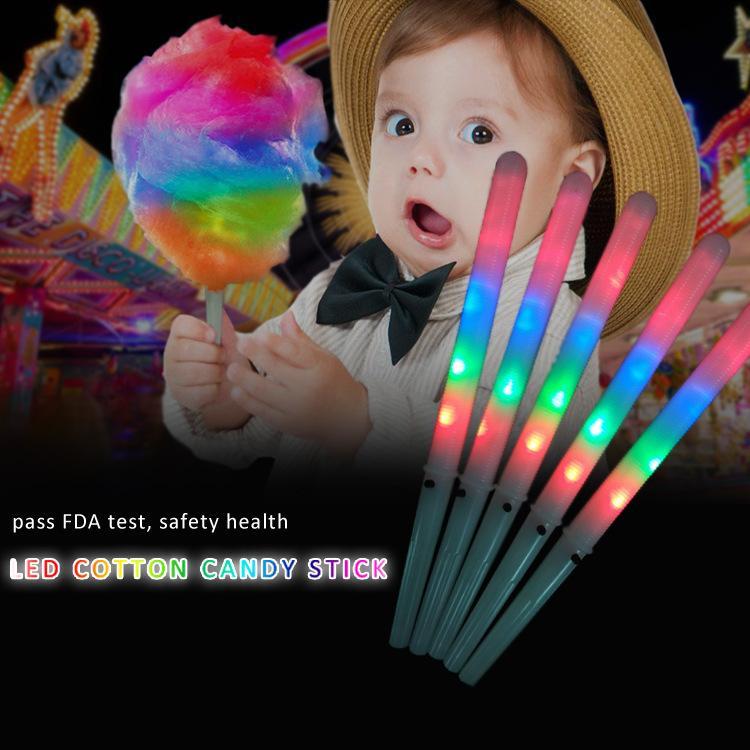 LED 마시맬로 글로우 파티 콘서트 크리스마스 빛나는 어린이 빛 스틱 다채로운 색상 변경 플라스틱 깜박이 클럽 밝은 응원 소품