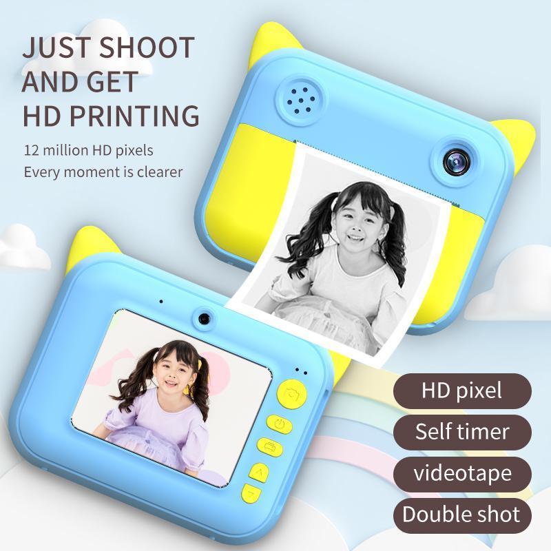 Mini Cartoon Camera 2 Inch HD Screen Educational Children Toys Portable Digital For Kid Printers