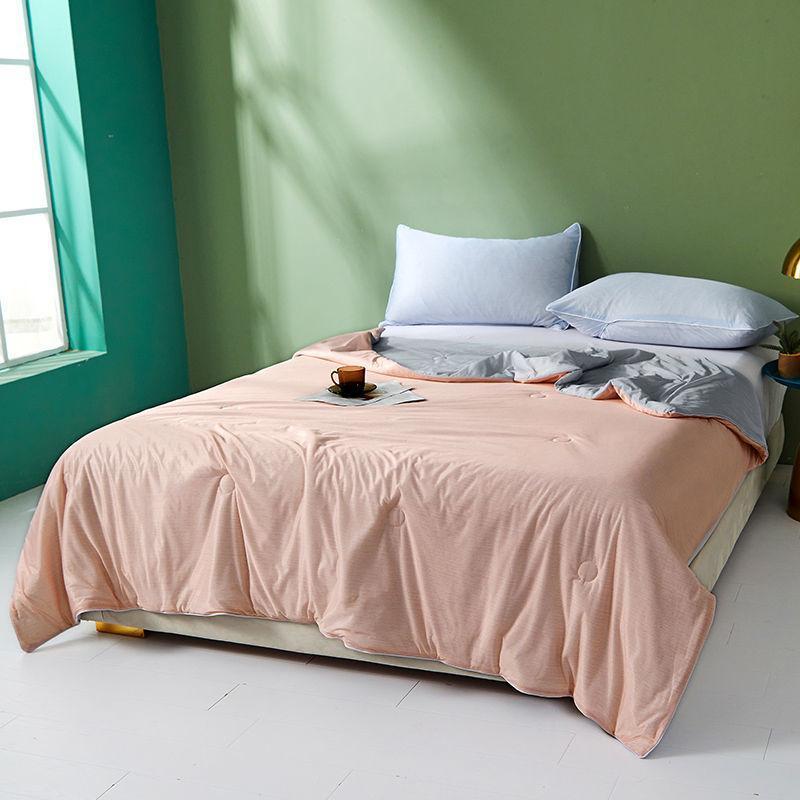 Bettdecken setzt kühle Sommerdecke mit Glimmer-Gefühl mit Glimmer-Doppelthaut-Steppdecke, atmungsaktive Klimaanlage Waschbar
