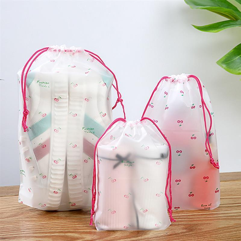 Frosted Drawstring Storage Bag High-Quality Transparent For Vegetable Fruit Toys Travel Organizer Bags
