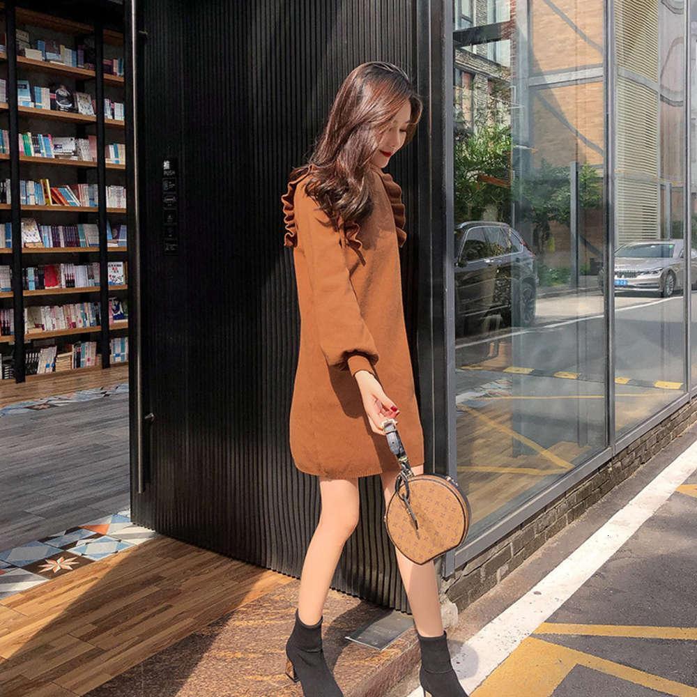 Платья повседневная вязаная осень зима французский меньшинство младенца DRS яйцо стиль девочка с шерстяной юбкой