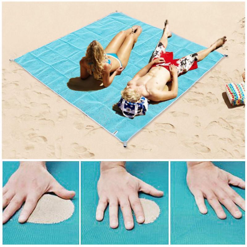 Beach Mat Portable Blue beach mat Anti-slip Rug Outdoor for support drop shipping 1385 V2