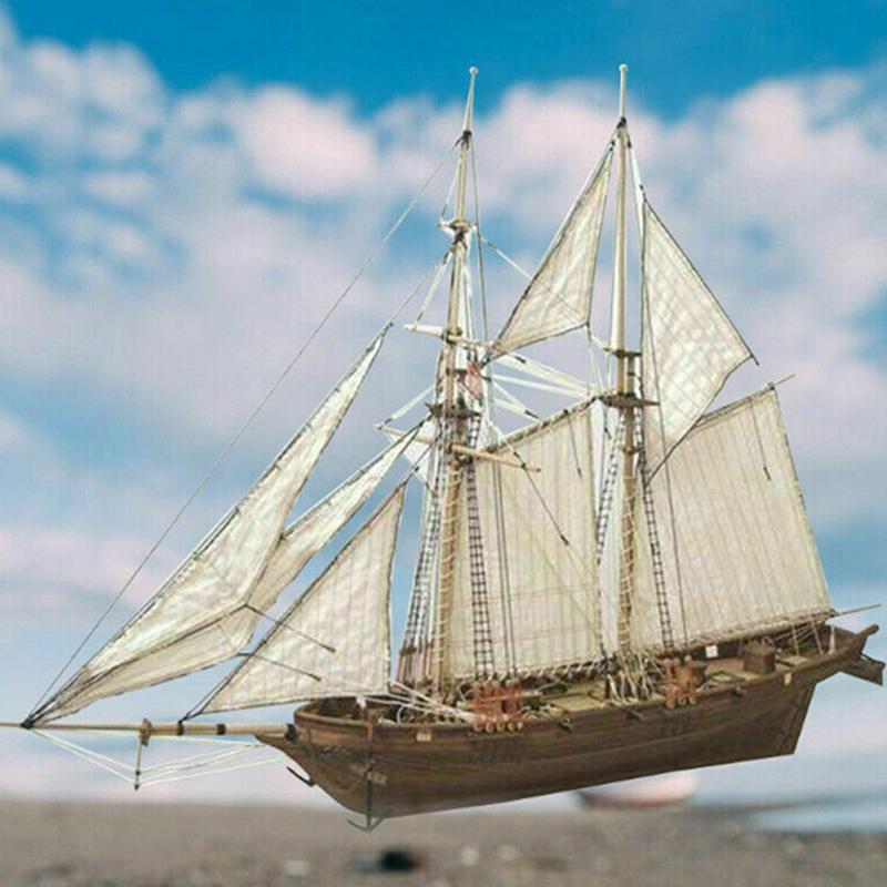 3 مجموعة 1100 هالكون خشبي الإبحار قارب نموذج diy كيت سفينة الجمعية الديكور هدية
