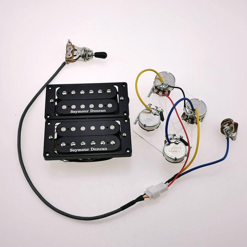 Seymour Duncan Guitar Pickups Humbucker Pickup per chitarra elettrica 4C Zebra / Black Set