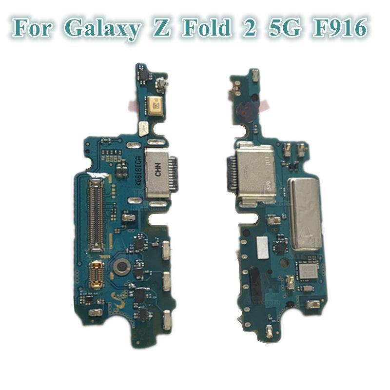 1 ADET Orijinal USB Şarj Dock Bağlayıcı Flex Kabloları Şarj Portu Mikrofon Kurulu Samsung Galaxy Z Katlama 2 5G F916 F9160 W21
