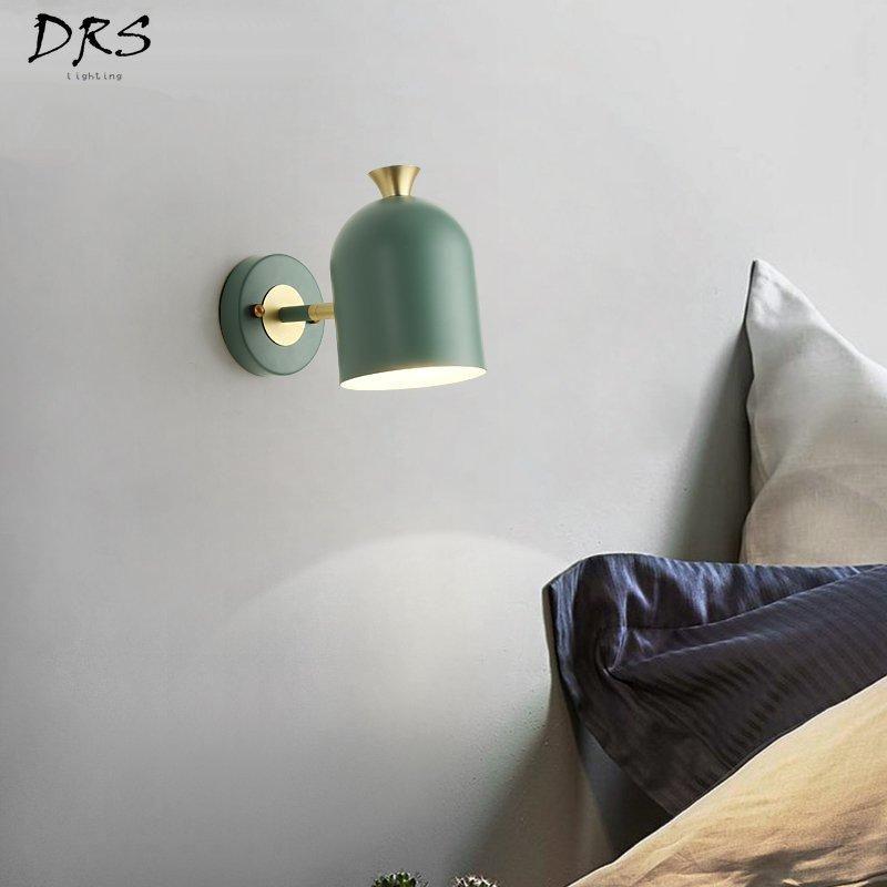 Nordic Macaron Wall Lamp Simple Modern Bedroom LED Creative Bedside Living Room Lights For Home Vanity Light Lamps