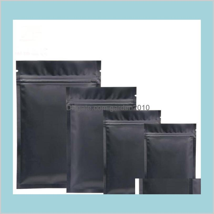 Packing Bags & Office School Business Industrial Black Plastic Mylar Aluminum Foil Zipper Bag For Long Term Food Storage And Collectib