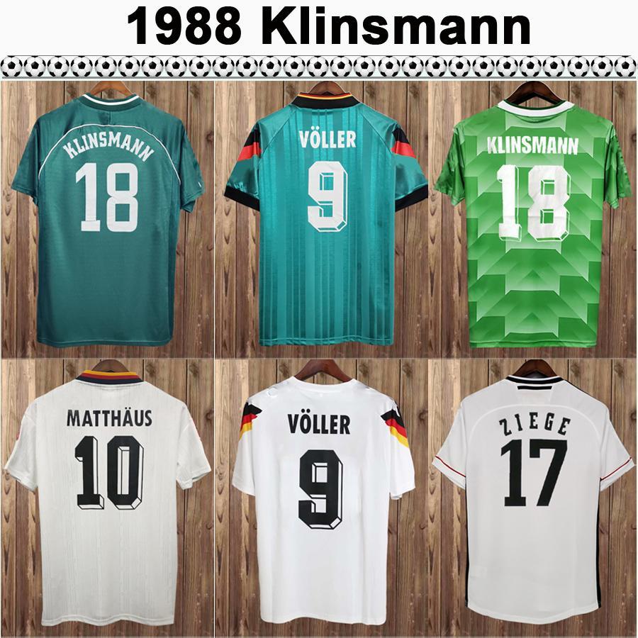 88-96 Matthaus Klinsmann Beckenbauer Vogel Mens Soccer Jerseys 98-04 Bobic Scholl Kuranyi Podolski Ballack Home