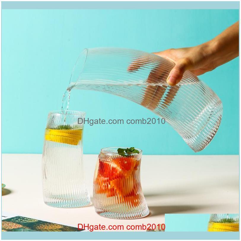 Bottles Drinkware Kitchen, Dining Bar Home & Garden Creative Glass Cold Water Bottle Jug Jar Kettle Transparent Large Capacity Wine Fruit Ju
