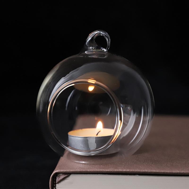 60mm Hanging Tealight Holder Globs Globes Terrario Hedding Holder Wedding Portacandele Candelabro Vaso Home Hotel Bar Decorazione AHC3527 530 R2