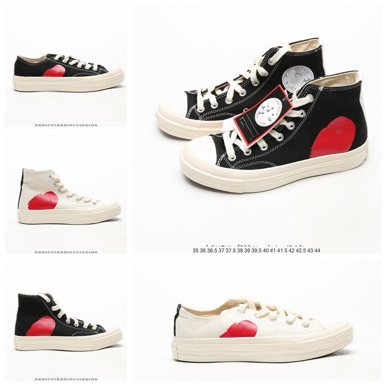 Mens COMMEs des GARCONS PLAY Chuck 1970 Casual Shoes for girl Tayler Vulcanized Sneakers Boy Skateboarding Womens Skate size 35-44