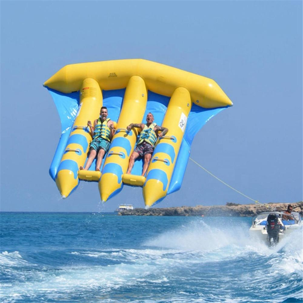 Exciting Water Sport Games Inflatable Flying Fish Boat Hard-wearing Towable Flyfish For Kids And Adults with Pump