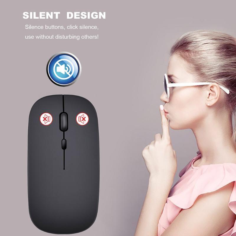 Souris sans fil à la souris sans fil Clic ultra-silencieux Souris optiques avec câble USB QJY99