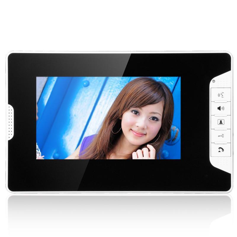Görüntülü Kapı Telefonları Telefon İnterkom Kapı Zili 7 inç TFT LCD Kablolu Sistem Kapalı Monitör 700TVL Açık Kızılötesi CA