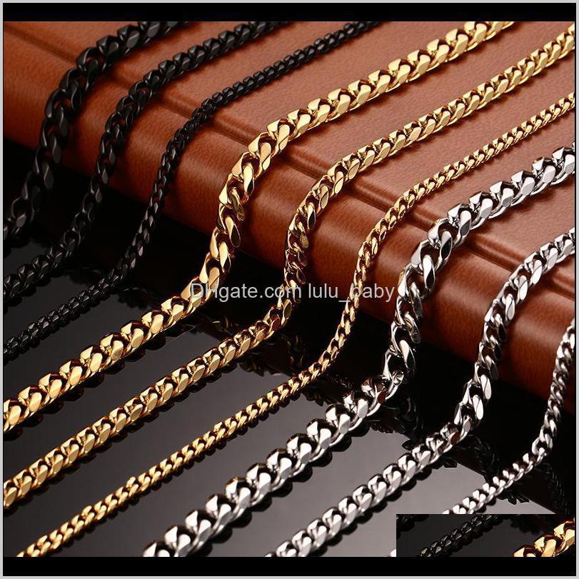 المعلقات مجوهرات انخفاض التسليم 2021 الأزياء جوهرة الفولاذ المقاوم للصدأ الرجال النساء 18 كيلو الذهب الذهب قلادة رجل سلاسل الفاخرة القلائد 01 K0SC5