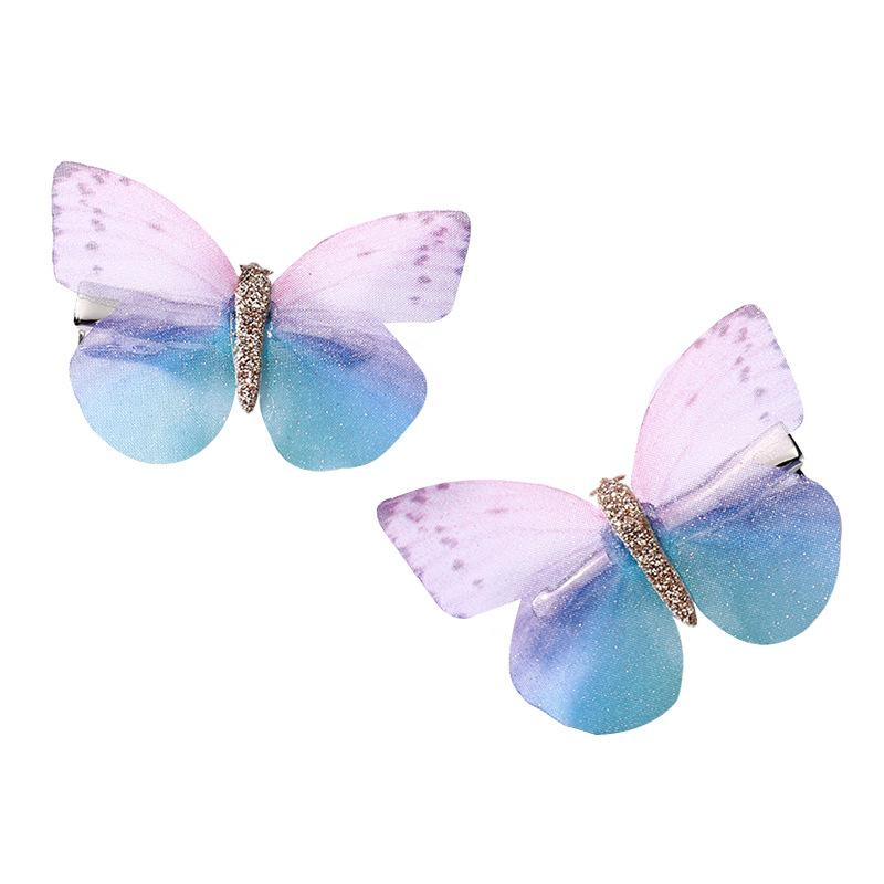 Nuove ragazze Bella simulazione colorata simulazione farfalla clip per capelli capelli dolci capelli ornamento fascia per forcine per bambini accessori per capelli battenti 8 y2
