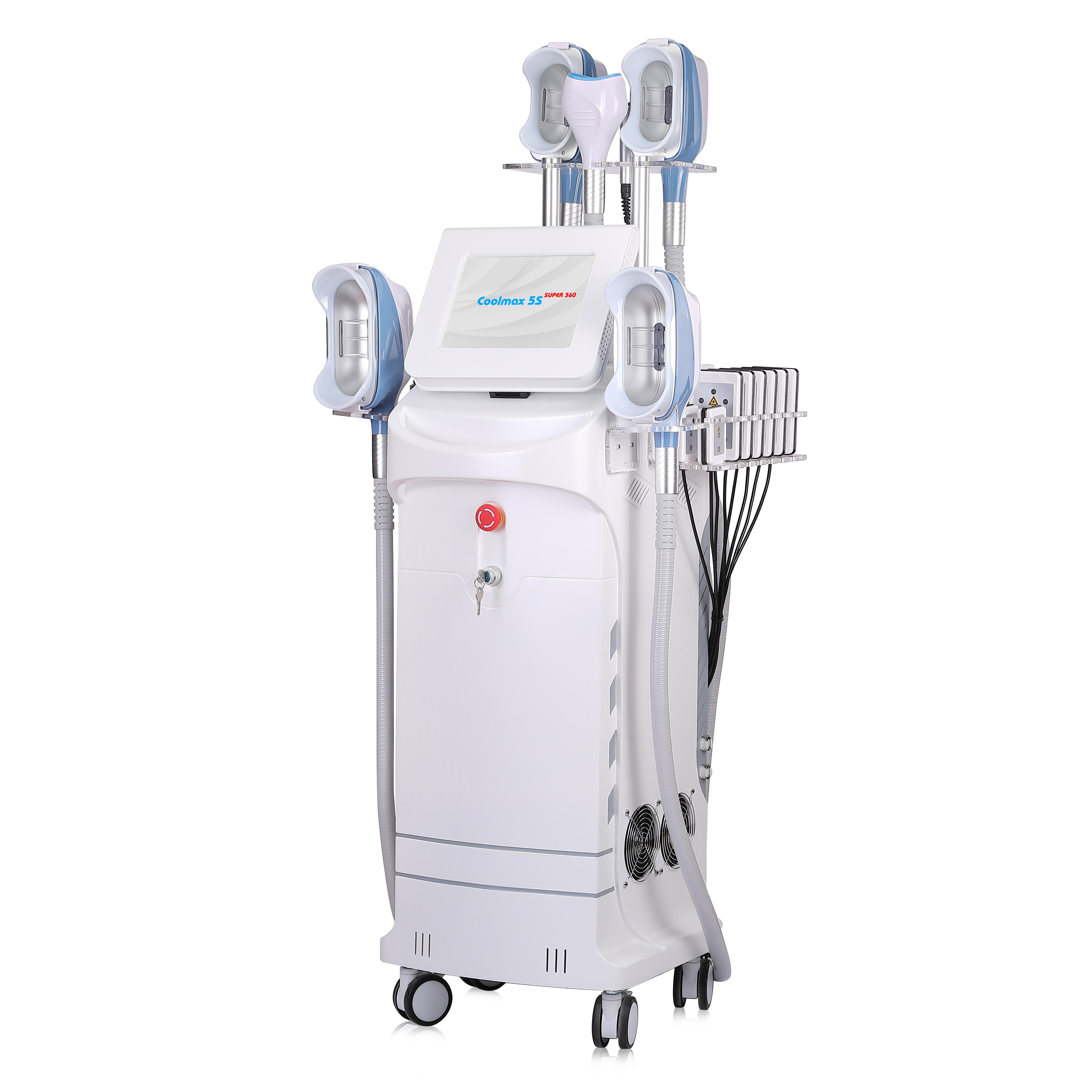 4 مقبض العمل معا 360 كيبرو الدهون آلة التجميد cryolipolysis الجسم التخسيس آلة مزدوجة الذقن معدات تدليك الجلد