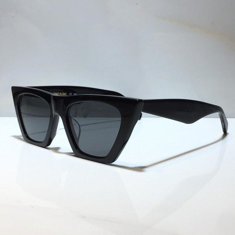 남성과 여성을위한 선글라스 여름 고양이 눈 스타일 안티 - 자외선 41468 레트로 방패 렌즈 플레이트 광장 전체 프레임 패션 안경 무작위 상자
