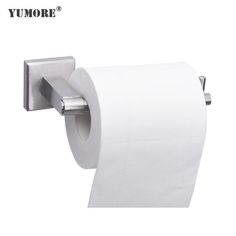 Tenedor de papel higiénico Montaje de pared Acero inoxidable Cuarto de baño Rollo de cocina Toalla de tejido Accesorios Titulares