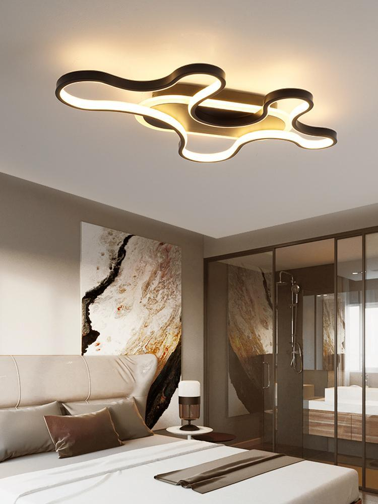 LED Panel Light Black Or White Creative Clouds Ceiling Lamp For Dining Living Room Modern Home Decoration AC90V - 260V Lights