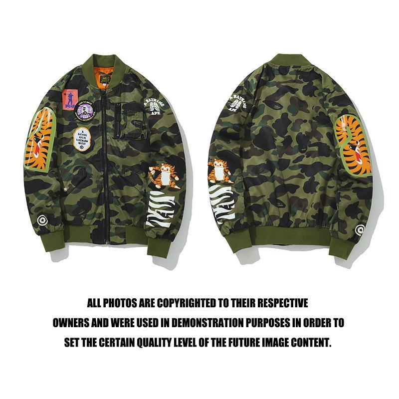 Brand giapponese moda tigre testa stampata giacca camuffamento gioventù moto vestito ninon giacca autunno inverno cappotto distintivo