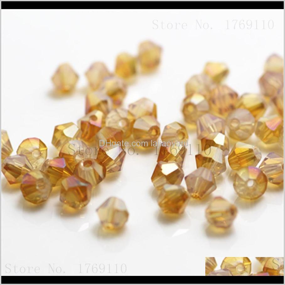 Verkauf gelbe Farbe 500 stücke 4mm sein österreich kristall charme glas perlen lose spacer perle für diy schmuck machen wmtcof wfifj ckmrz
