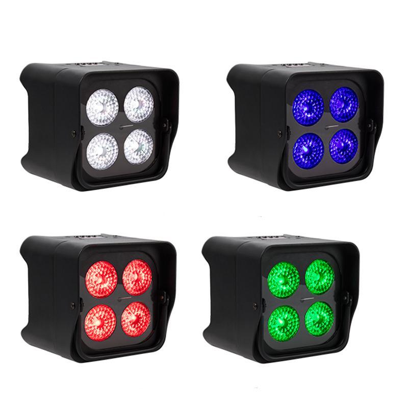 PAR LIGHT 4x12W 4 in 1/4x18w RGBW UV 6 IN1 LED Uplight Batterie Wireless IR-Fernbedienung DMX Uplighting DJ Wash Disco Hochzeitsstadium DHL