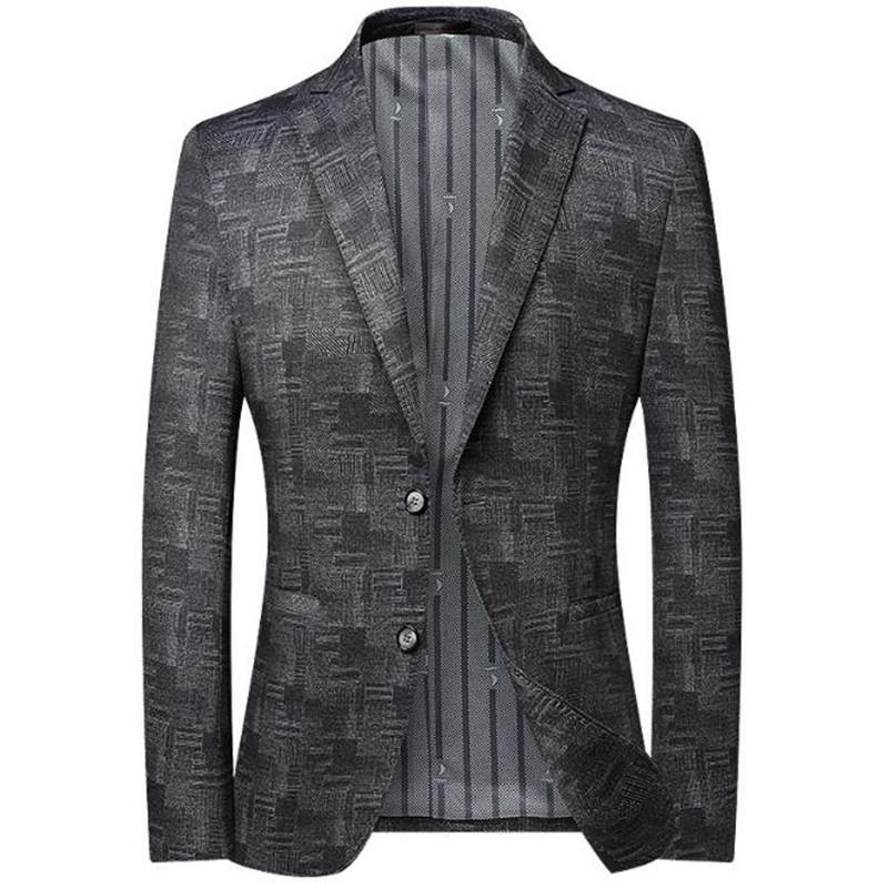 Uomini Blazer New Men Suit Blazer Fashion Business Breasted Blazer Blazer Maschile Abbigliamento da sposa Dimensione 3XL 4XL