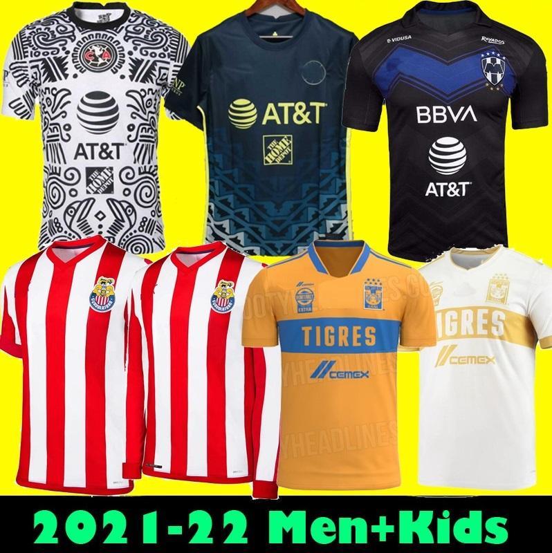 SIZE S-3XL 20 21 22 Club America Away Soccer Jerseys 2021 2122 Home UNAM Third UANL Tigres Chivas Guadalajara 115 year kit Football Shirts