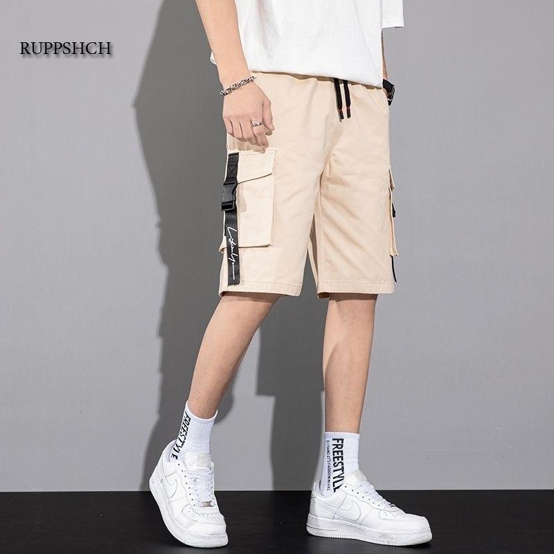 Camouflage Lâche Cargo Shorts Hommes Cool Summer Militaire Camo Pantalons courts Homme Cargo Shorts sans ceinture 210329