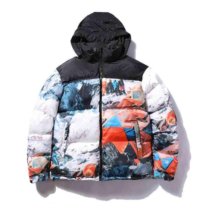 패션 남자 다운 코트 겨울 남성 자 재킷 편지 파카와 함께 자 켓 재킷, 따뜻한 편지 자 수 패턴 windproof