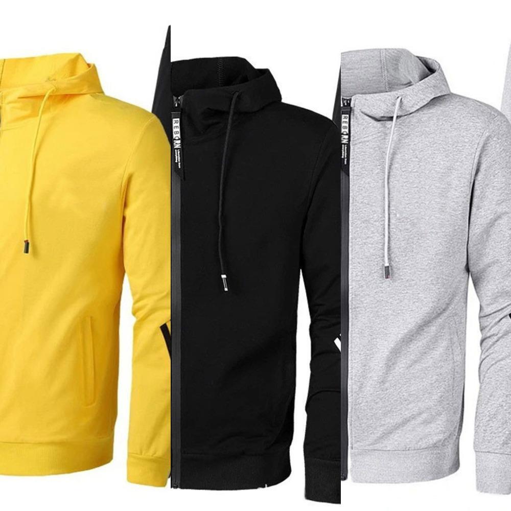 2021 New Herren Casual Anzug Mit Kapuze Cardigan Pullover Sport Sport Casual Wear Slim Anzug Sport und Freizeit Trend Zweiteiler Anzug X0601