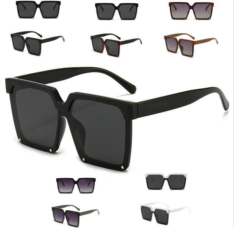 2021 designer quadrado óculos de sol homens mulheres tons vintage dirigindo polarizado macho sol óculos moda metal prancha óculos com caixa
