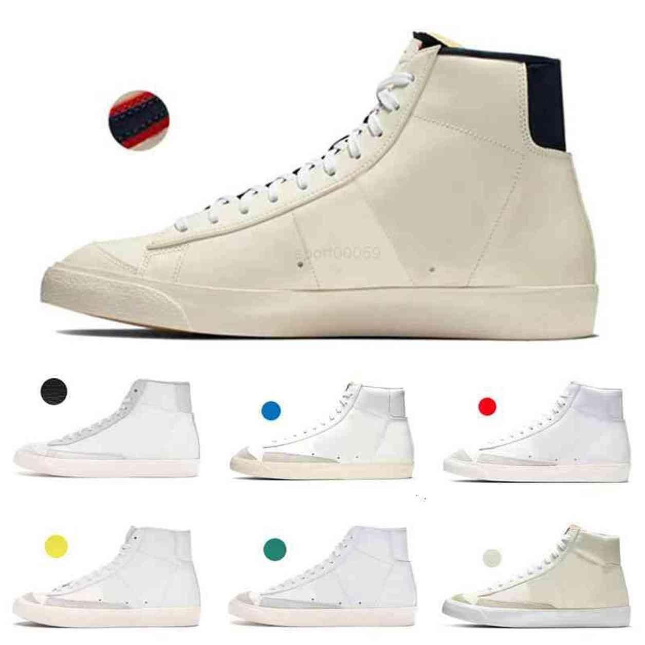 Blazer Mid 77 أحذية أطفال Lucid Green Sail White Chicago و Toronto Canvas Pacific Blue Habanero Red