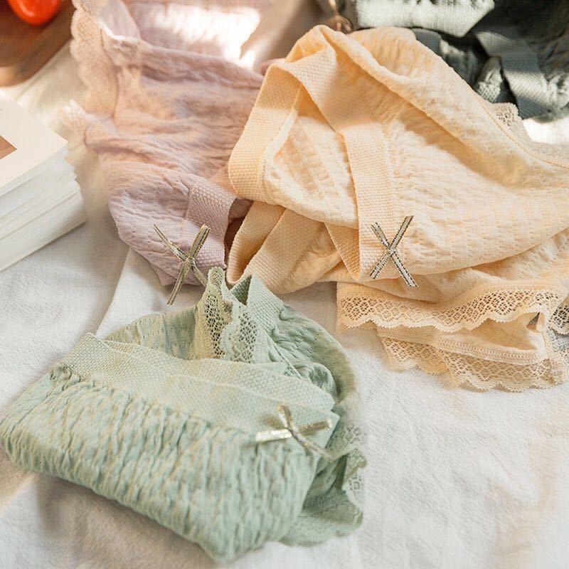 Mutandine biancheria intima delle donne Panties Four Seasons Pure Cotton Graphene Antibatterico Tracciamento Triano Triano Triano Triano Meridioso in vita