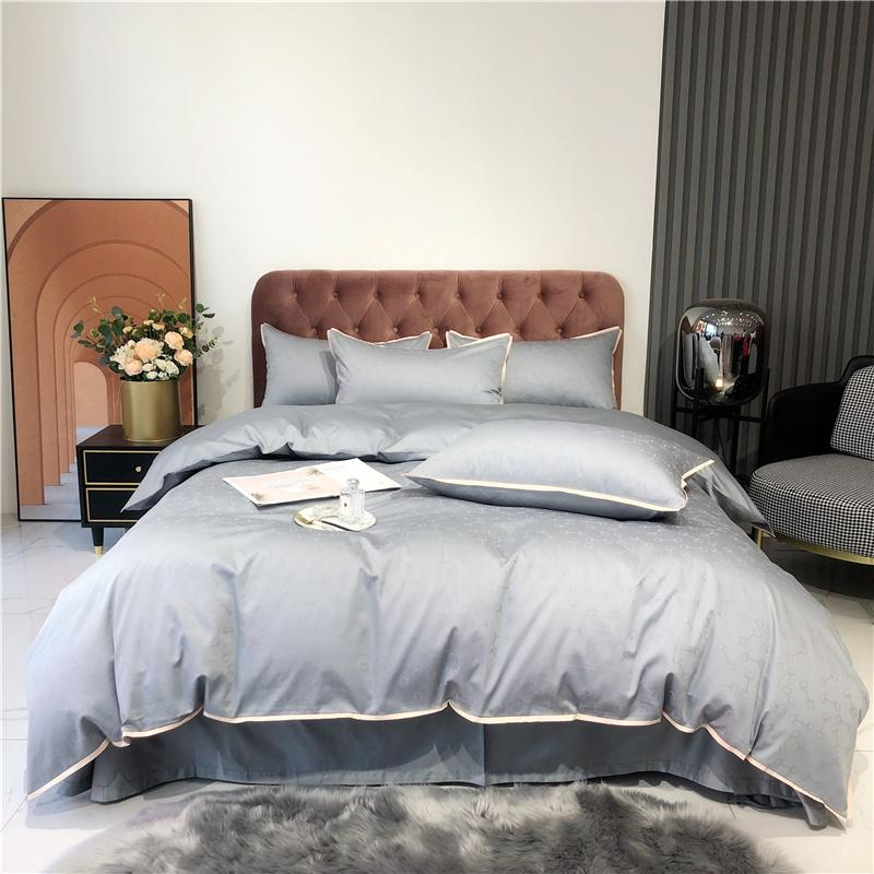 Egyptian Cotton Luxury Jacquard Bedding set King Queen size Bed set Duvet cover Bed sheet Set pillowcase