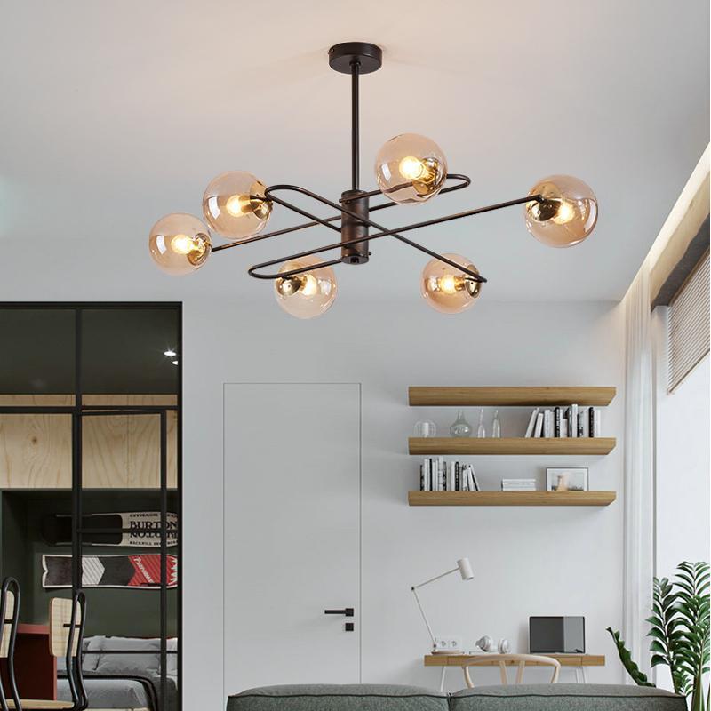 현대 LED 샹들리에 조명 거실 식당 침실 주방 유리 공 실내 로비 홈 인테리어 샹들리에