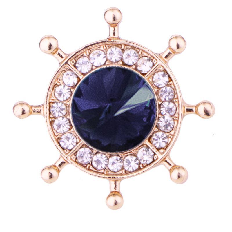 NUEVO ANCHOR TRUDER BRÚso Pin Crystal Rhinestone Lapel Pins Mens Traje Camisa Cuello Insignia Regalos de Joyería para Mujeres Accesorios