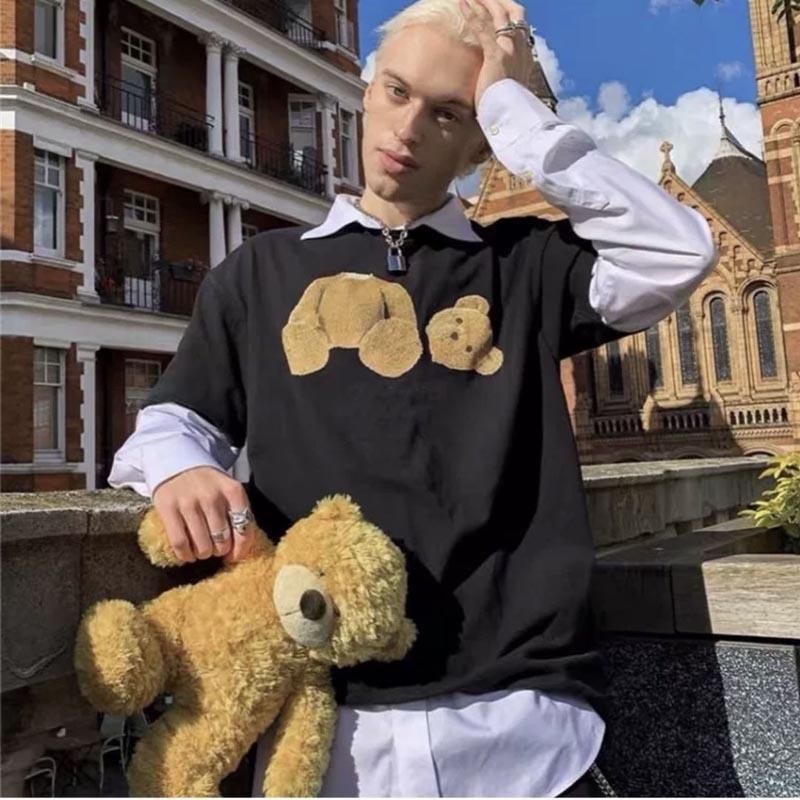 2021 패션 여성 인쇄 T 셔츠 고품질 트렌드 반팔 남자 티 커플 디자이너 티셔츠 순수한 면화 삼색