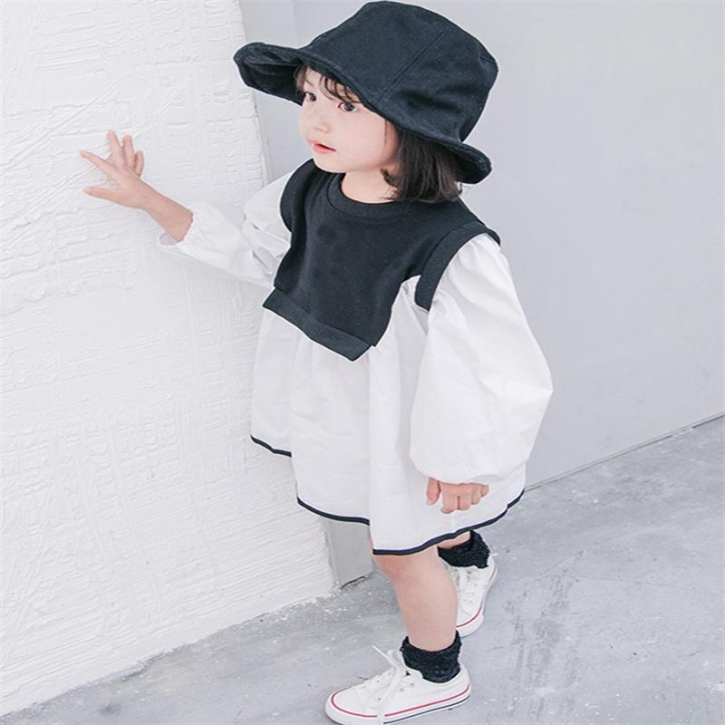 فتاة اللباس الاطفال ملابس الطفل 2022 بارد الربيع الصيف طفل شاطئ حزب تستند المراهقين فساتين موحدة القطن الأطفال القماش