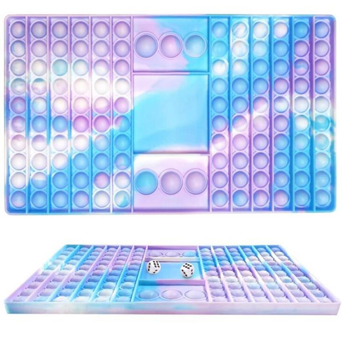 Fidget Push Desktop Toy Push Puzzle Tischtisch Dekompression Tie-Dye Chess Board Finger Bubble Sensory Educational Toys 2021 Neueste FY2760