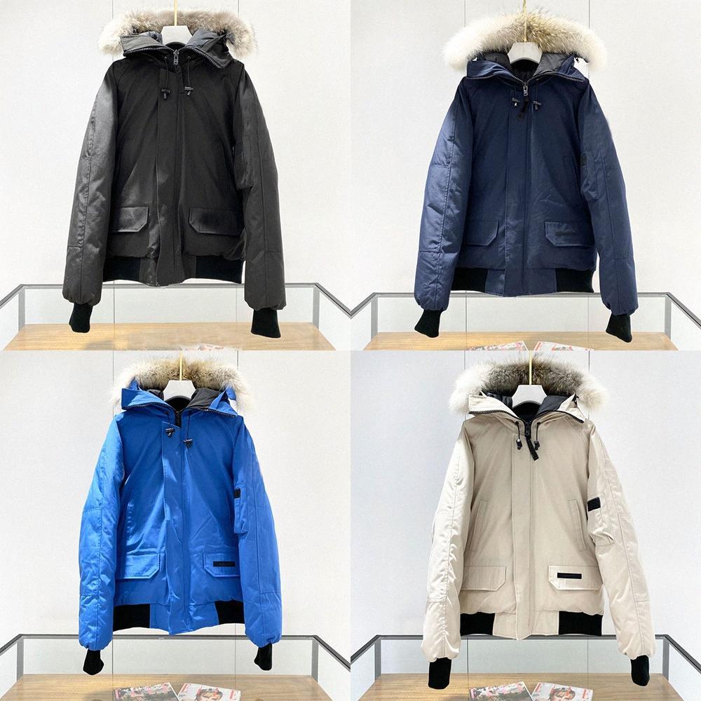 2021 winter mens canadian Down Parkas Coats fusion canada bonnet coat warm goode womens beige blue jacket bomber fur gose collarr 01023bbE#
