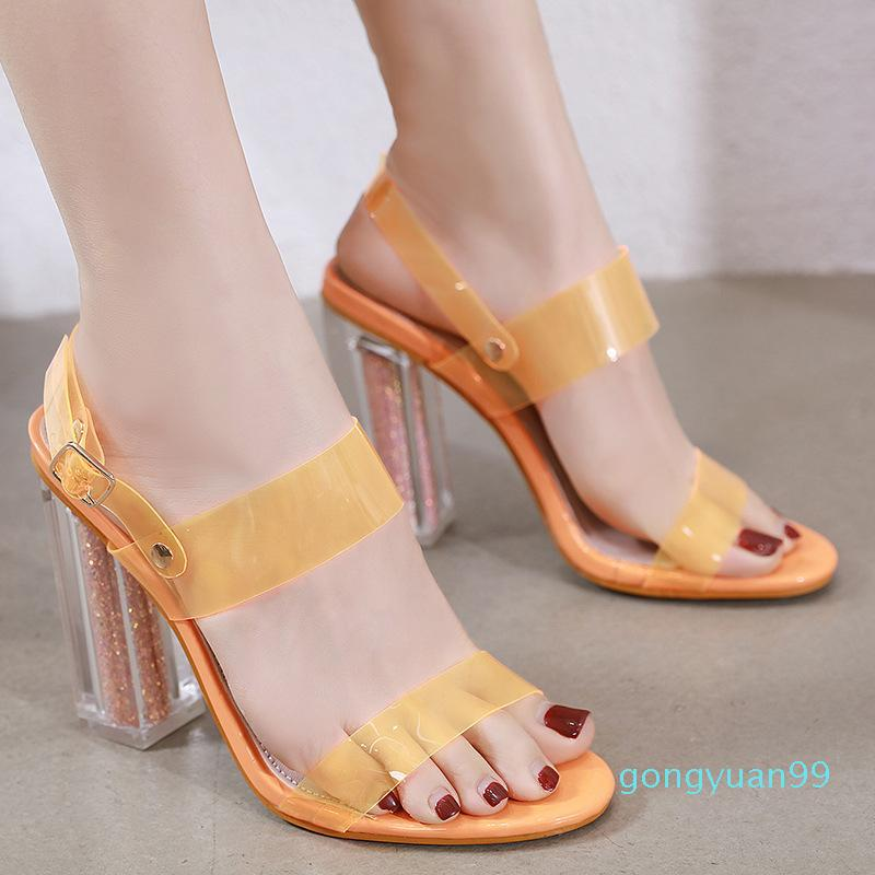 Spring Shoes Sandals Straps Summer Heels 2021 Women's Suit Female Beige Girls High Gladiator Elastic Band New Black Plastic Com