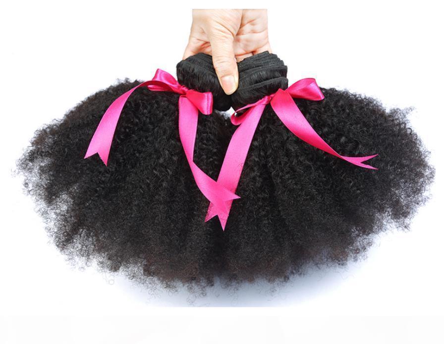 Brasilianisches afro lockiges menschliches haar unverarbeitete brazilain afro kinky lockige bündel billig 8A malaysian peruanisches jungfräser menschliches haar weben fzp214