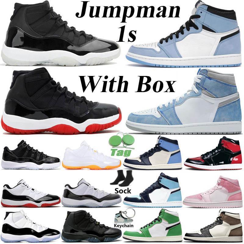 Con caja Jumpman Retro 1 High Zapatillas de baloncesto para hombre 1s University Blue Hyper Royal Obsidian UNC Dark Mocha Twist Mid Chicago Zapatillas de deporte para mujer