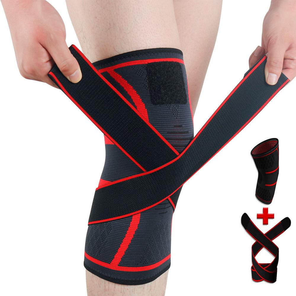 Sticker Knee Pads Sport Pressurized Elastic Bandage Football Volleyball Fitness Basketball Kneepad Arthritis Muscle joint Brace Support