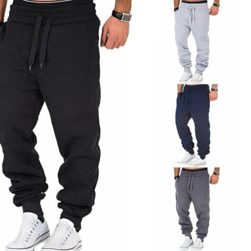 2020 Nuevo hombre Sujetadores sueltos Otoño y SummerDrawstring Ejercicio Gimnasio Ejercicio Pantalones casuales Sping Pantalones de jogging al aire libre
