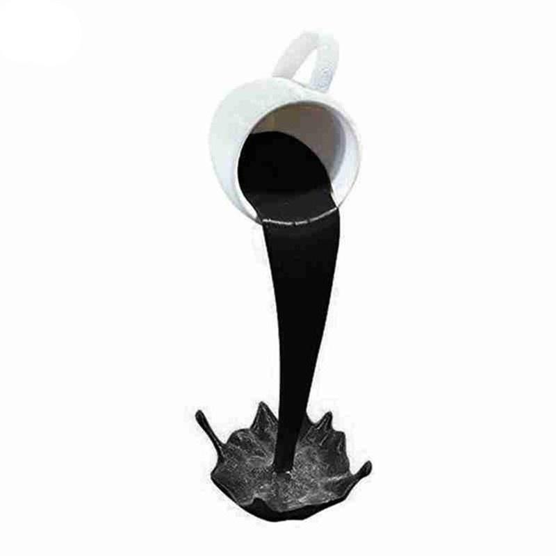 Flutuando derramando copo de café escultura decoração cozinha derramamento mágico despejando splash creativo caneca de café home decoração l0309 901 r2