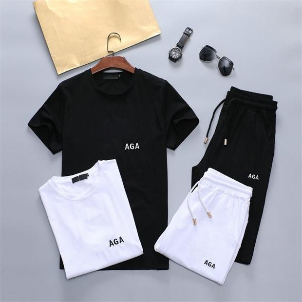 2021 designer tide men's suit summer cotton sportswear fabric comfortable and fashionable 2212w