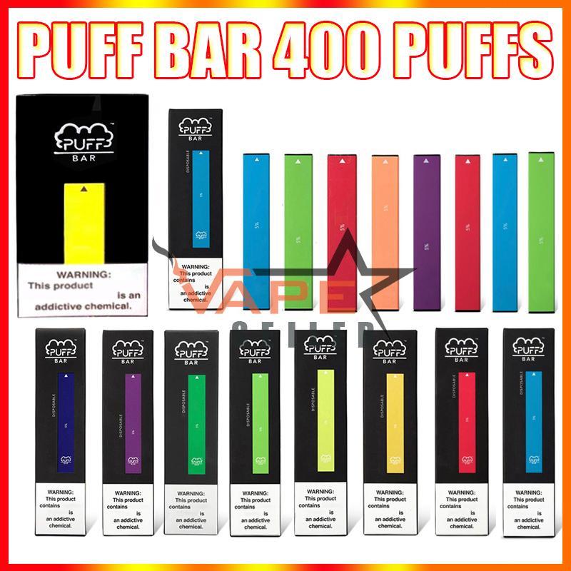퍼프 바 일회용 vape 펜 전자 담배 키트 보안 코드 280mAh 배터리 1.3ml 포드 400 퍼프 퍼프 puffbar 장치